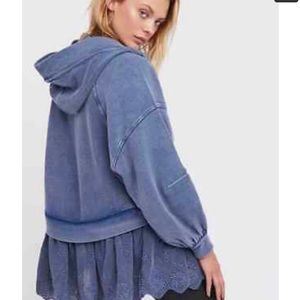 Free People, 100 % cotton tunic with hood